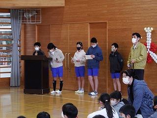 2月25日(木) 六年生を送る会